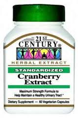 Cranberry Fruit Veggi Cap 60 Count By 21st Century Nutritional Prod/GNP