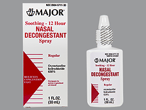 12 Hour Decongestant Nasal Spray 30 ml By Major Pharma
