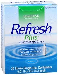 Refresh Plus Lubricant Single-Use Eye Drops - 30 Ct 0.01 Fl oz Vials