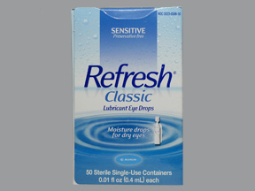 Refresh Classic Lubricant Single-Use Eye Drops - 50 count, 0.01 fl oz vials