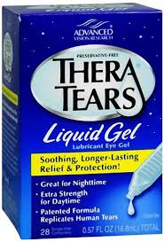 Thera Tears (Theratears) Lubricant Eye Liquid Gel - 28 containers, 0.57 fl oz
