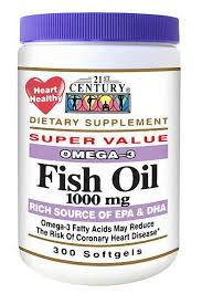 Fish Oil Omega-3 Softgel 300Ct 21St Cent