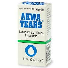 Artificial Tears Original Lubricant Eye Drops 15ml by Akorn polyvinyl alcohol