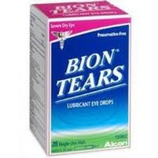 Bion Tears Lubricant Single Use Eye Drops - 28 Count 0.015 oz Vials By Alcon