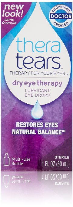 Thera Tears (Theratears) Lubricant Eye Drops - 1 fl oz bottle