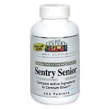 Sentry Senior Multivit Tab 265 Count By 21st Century Vitamins