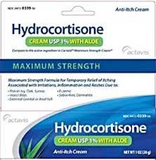 Hydrocortisone 1% Cream W/Aloe 1 oz Act