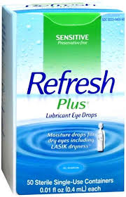 Refresh Plus Lubricant Single-Use Eye Drops - 50 ct, 0.01 fl oz vials
