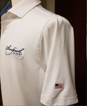 Image 1 of Shirt men's white USA tournament jersey with collar