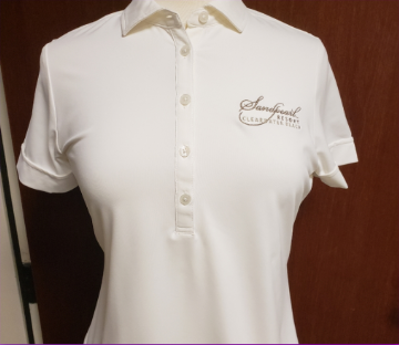 Image 2 of Shirt women's white Morgan polo with collar