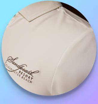 Image 1 of Shirt women's white Morgan polo with collar