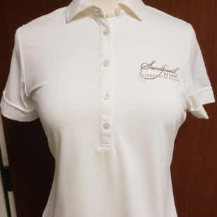 Shirt women's white Morgan polo with collar