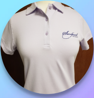 Shirt women's lilac Reese pique polo with collar