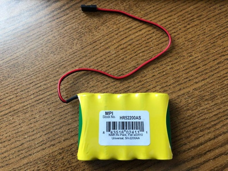 Image 0 of MPI Gold Peak 6.0V 2200mAh NiMh 5-Cell Receiver Pack Battery