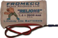 Image 1 of Relion 2600mah 7.4volt Ion JR connector