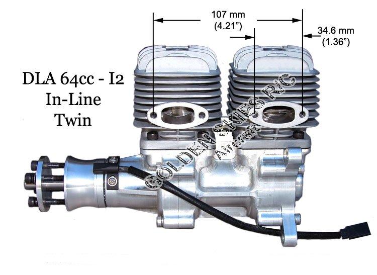 Image 13 of DLA64i2 inline twin cylinder Gasoline aircraft engine