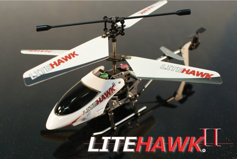 Image 0 of LITEHAWK II MINI HELICOPTER W/ LED LIGHTS - 7.5in WINGSPAN