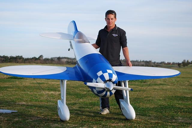 Image 1 of Giant Scale Gee Bee R4 110 inch wing span V2 Blue