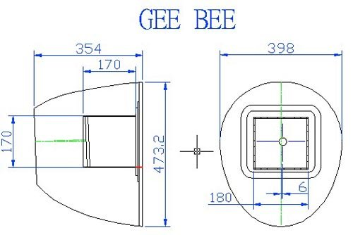 Image 3 of Giant Scale Gee Bee R4 110 inch wing span V2 Blue