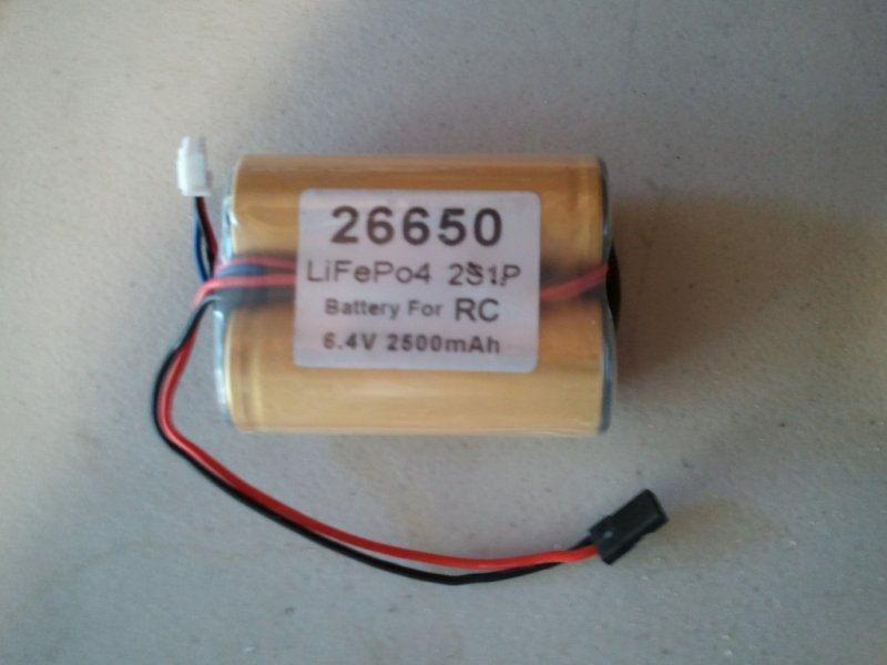 Image 0 of A123 battery (lithium Phosphate) 2500mah 2S1P