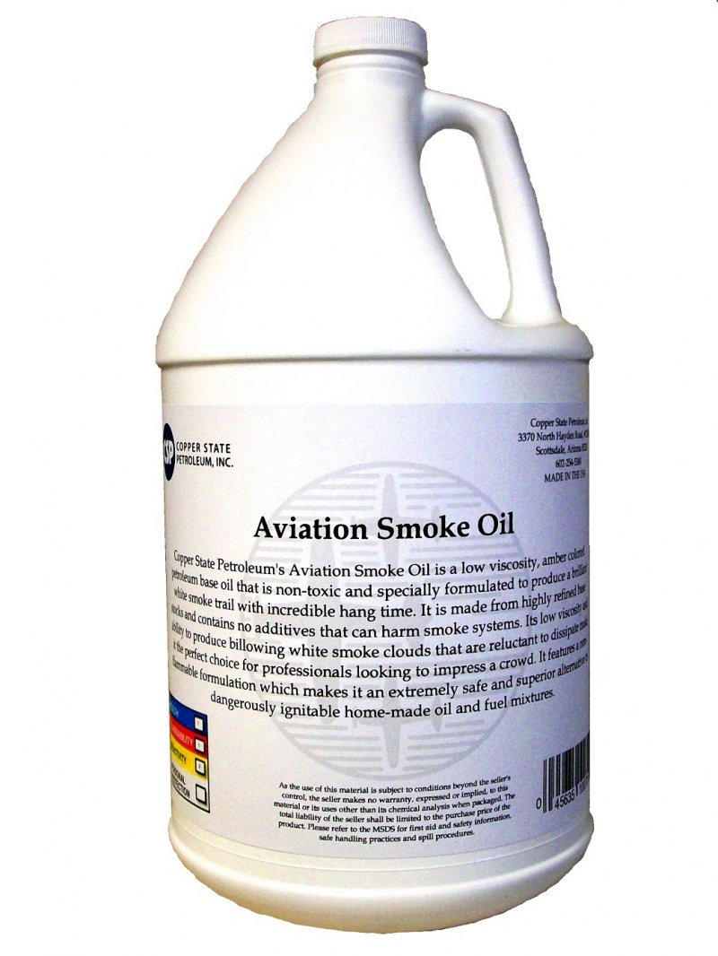 Image 0 of R/C Aviation Smoke Oil (Case) 4 - 1 gallon jugs