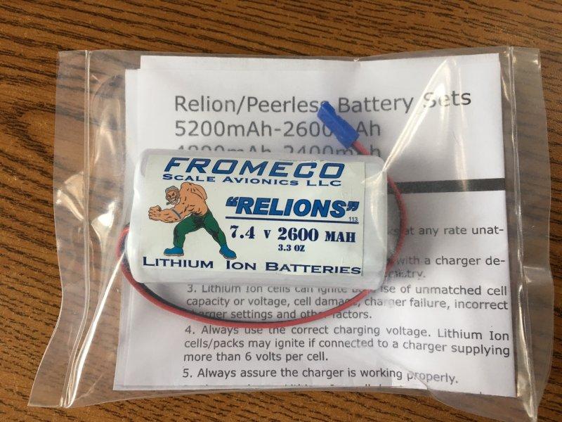 Image 0 of Relion 2600mah 7.4volt Ion JR connector