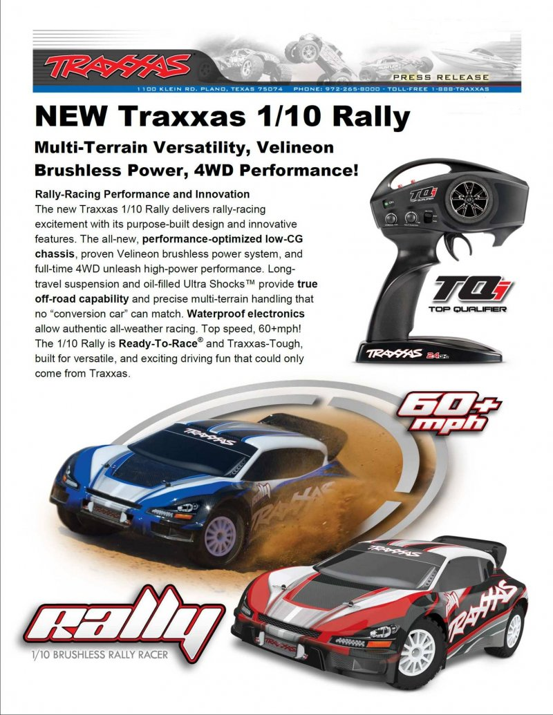 Image 1 of Traxxas 1/10 Rally 4WD Brushless RTR Rally Racer w/TQi 2.4GHz 2-Channel Radio
