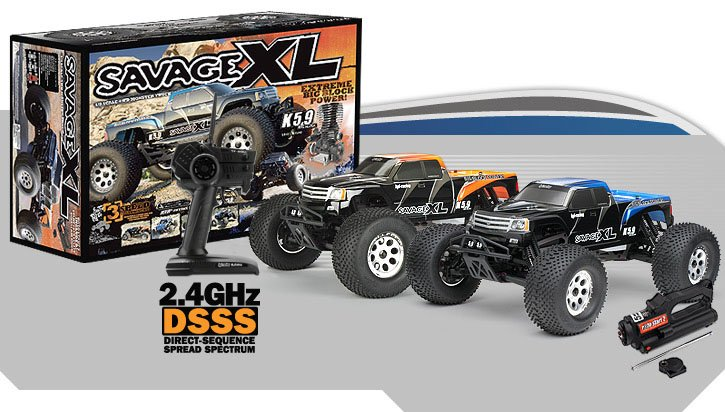Image 2 of SAVAGE XL 5.9 2.4GHZ RTR WITH GT GIGANTE BODY