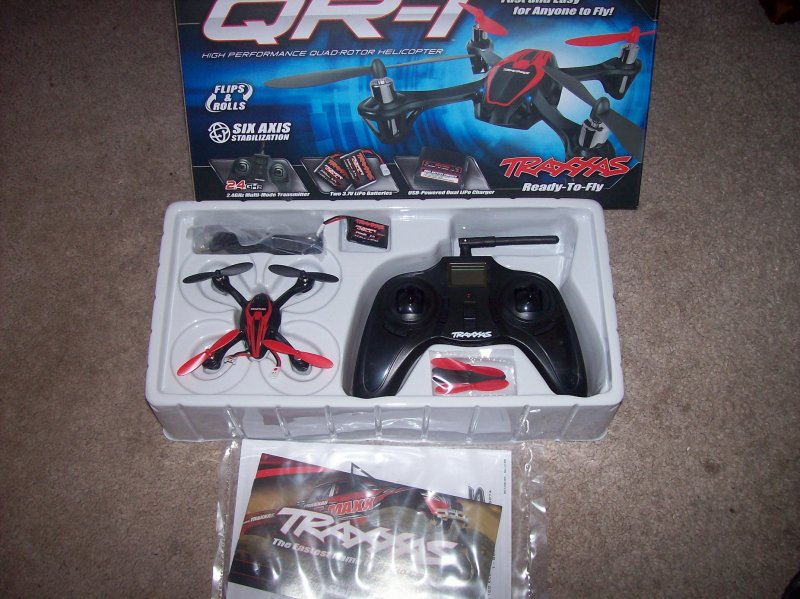 Image 0 of Traxxas QR-1 QUAD ROTOR HELICOPTER RTF 2.4GHZ, 2 LIPO & USB CHARGER