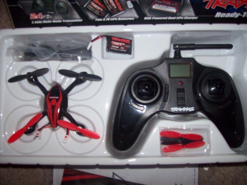 Image 1 of Traxxas QR-1 QUAD ROTOR HELICOPTER RTF 2.4GHZ, 2 LIPO & USB CHARGER