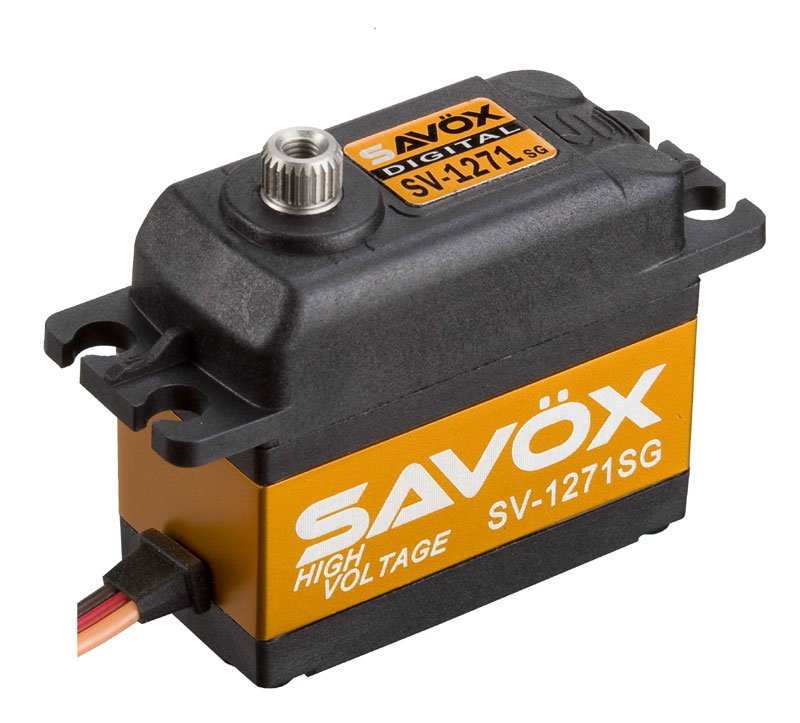 Image 0 of Savox 1271SG  HV CORELESS DIGITAL SERVO .08/347.2 STANDARD SIZE 7.4V