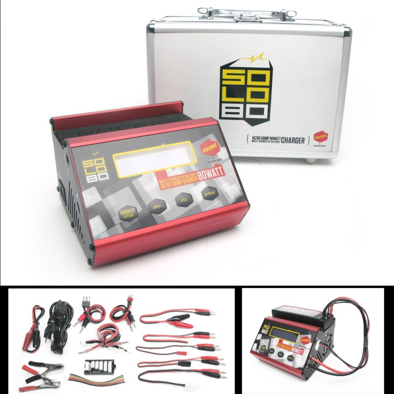 Image 0 of SOLO 80 AC/DC 80WATT 6AMP MULTI-CHEMISTRY BALANCE CHARGER