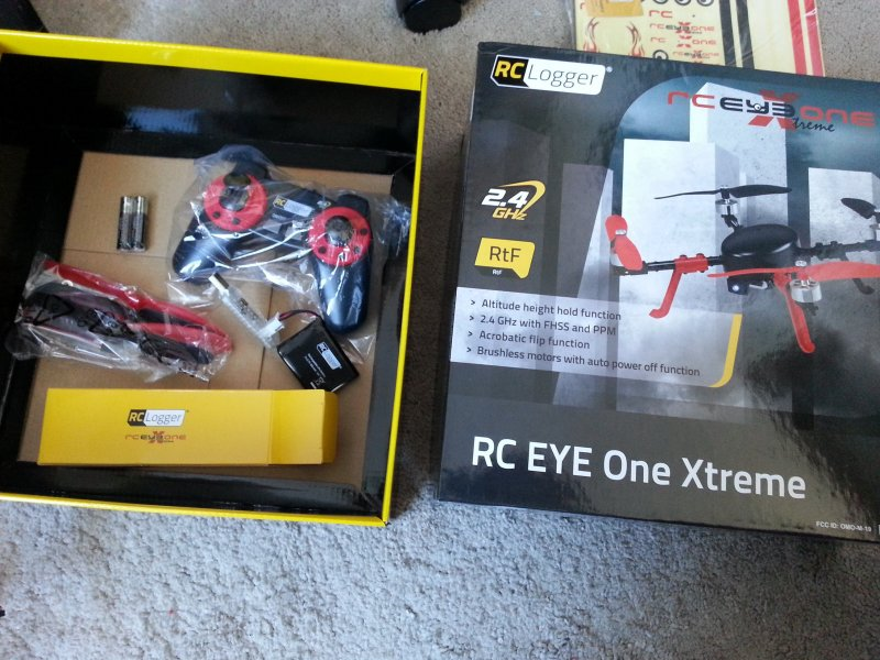 Image 4 of RC Eye One XTREME rc logger quad copter drone UAV FPV