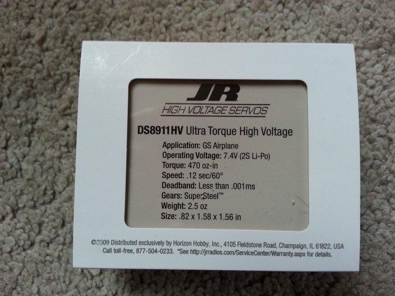 Image 1 of JR DS8911HV High-Voltage Ultra Torque Servo