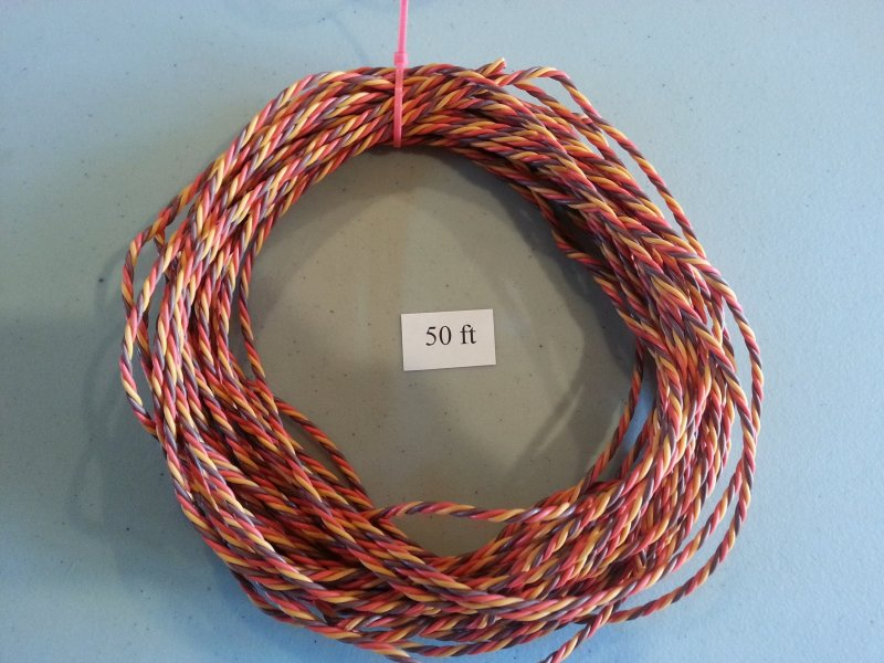 Image 0 of 50ft Roll Extension Wire Heavy duty twisted (universal JR Color)