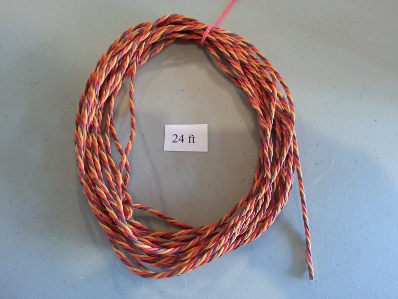 Image 0 of 24ft Roll Extension Wire Heavy duty twisted (universal JR Color)