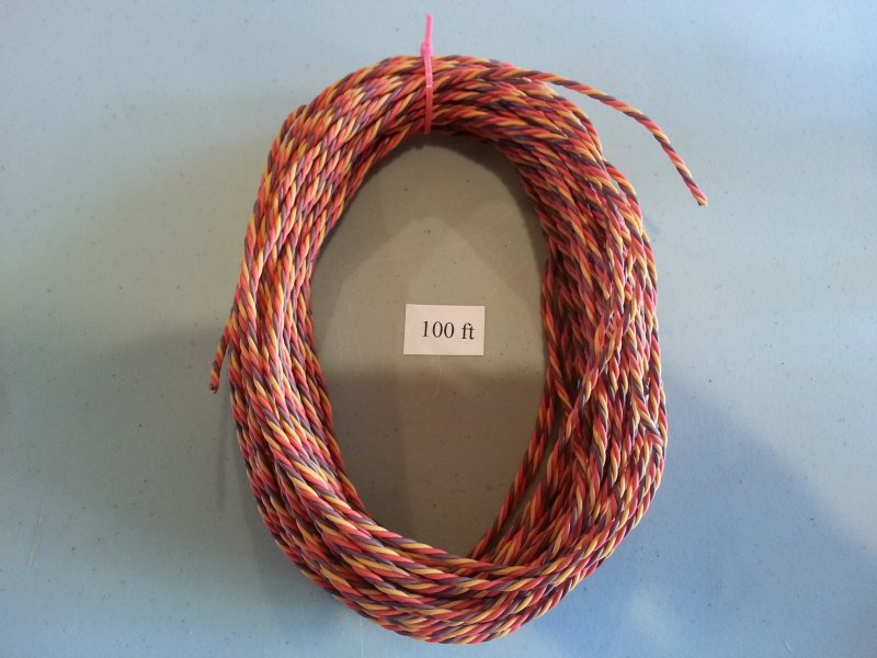 Image 0 of 100ft Roll Extension Wire Heavy duty twisted (universal JR Color)
