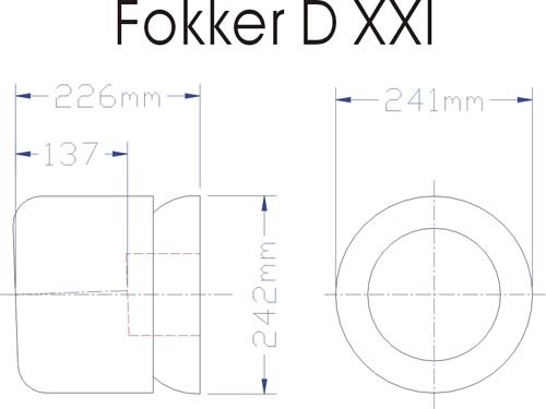 Image 4 of Giant Scale Fokker DXXI 87 inch w.s.