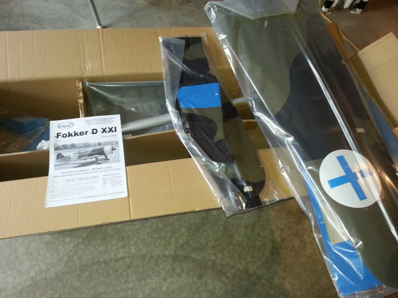 Image 5 of Giant Scale Fokker DXXI 87 inch w.s.