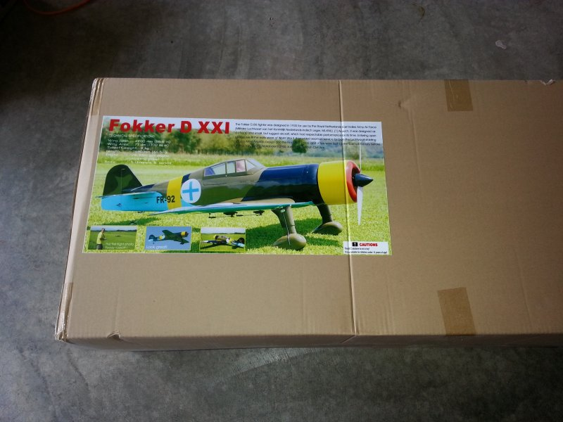 Image 6 of Giant Scale Fokker DXXI 87 inch w.s.