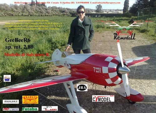 Image 0 of Giant Scale Gee Bee R4 110 inch wing span V2 Red