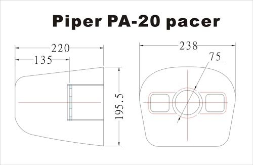 Image 2 of Giant Scale Piper Pa-20 pacer 88.6 in