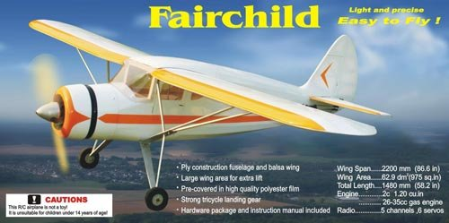 Image 2 of Giant Scale Fairchild 24 86.6in