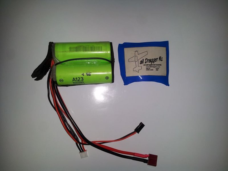Image 2 of Genuine A123 LiFePO4 2-cell 6.6V battery pack 2500 MAH Battery Pack