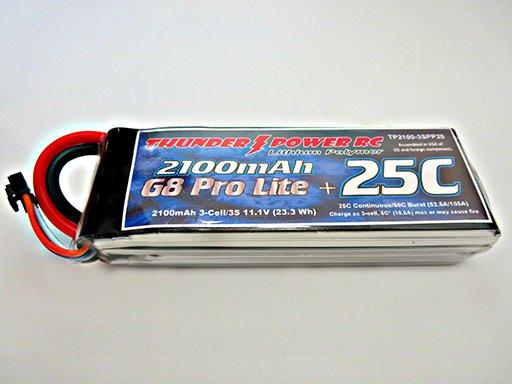 Image 0 of 2100mAh 3-Cell/3S 11.1V G8 Pro Lite+ 25C LiPo