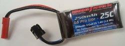 Image 0 of 250mAh 2-Cell/2S 7.4V G8 Pro Lite+ 25C LiPo, JST