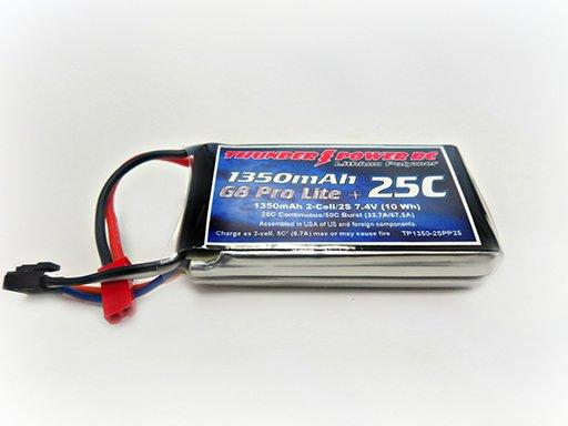 Image 0 of 1350mAh 2-Cell/2S 7.4V G8 Pro Lite+ 25C LiPo, JST
