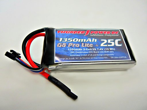 Image 0 of 1350mAh 2-Cell/2S 7.4V G8 Pro Lite+ 25C LiPo