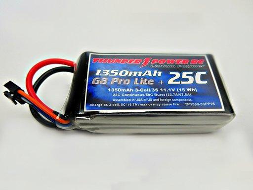 Image 0 of 1350mAh 3-Cell/3S 11.1V G8 Pro Lite+ 25C LiPo