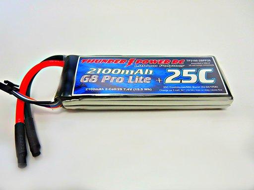 Image 0 of 2100mAh 2-Cell/2S 7.4V G8 Pro Lite+ 25C LiPo